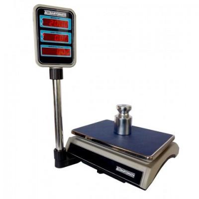 Весы торговые настольные электронные ВТНЕ/2-30Т2 RS до 30 кг