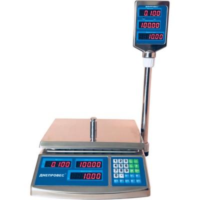Весы торговые Днепровес ВТД-6ЕЛС (F902H-6EDS)