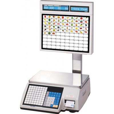 Весы торговые CAS CL5000J-IS 6 кг с термопечатью