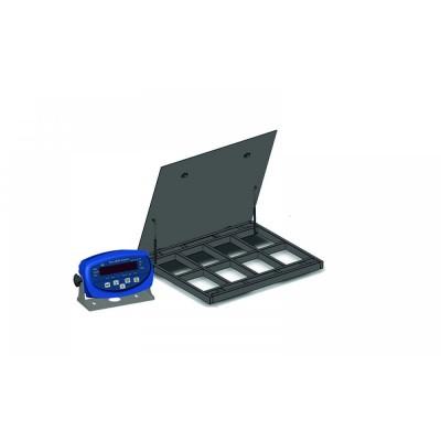 Весы платформенные с откидной платформой 4BDU600-1010ВП-Б бюджет 1250х1250 мм (до 600 кг)