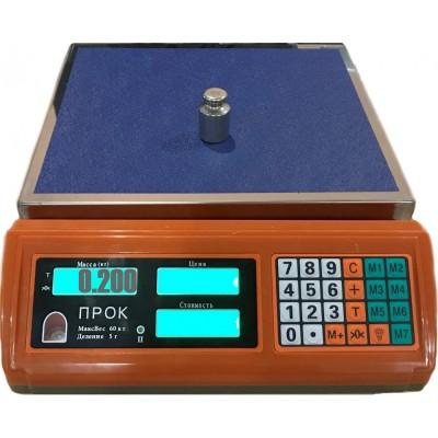 Весы торговые ПРОК ВТ-60