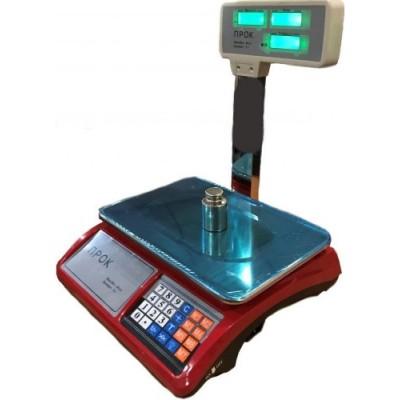 Весы торговые ПРОК-ВТ-779-GL до 30 кг, дискретность 5 г, 240х330 мм
