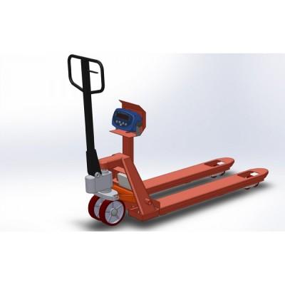 Гидравлическая тележка с весами 4BDU2000P-В бюджет 520x1200 мм (до 2000 кг)