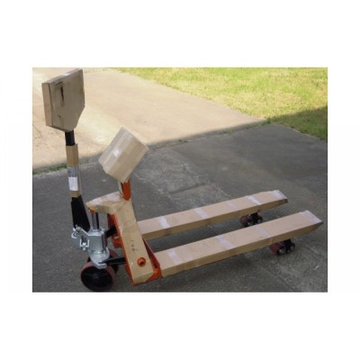 Гидравлическая тележка с весами грузоподъемностью до 2000 кг 4BDU2000P-В практичная 520x1200 мм
