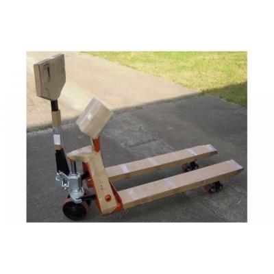 Гидравлическая тележка с весами и принтером самоклеющихся этикеток 4BDU2000P-В практичная 520x1200 мм (до 2000 кг)
