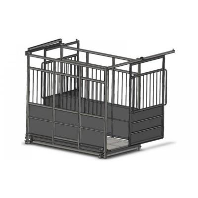 Весы для взвешивания скота с раздвижными дверьми 4BDU-300X-Р, НПВ: 300кг, 1250х1250 мм БЮДЖЕТ