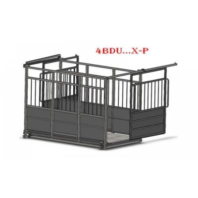 Весы для крупного рогатого скота с раздвижными дверьми 4BDU-3000X-Р, НПВ: 3000кг, платформа: 1250х2000 мм ПРАКТИЧНЫЕ