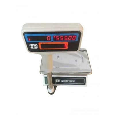 Торговые весы ВТЕ-Центровес-15-Т2-ДВ-Н-Б