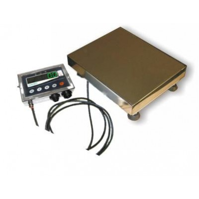 Весы электронные на 300 кг (нержавейка) ТВ1-300-100-(600х700)-N-12еh