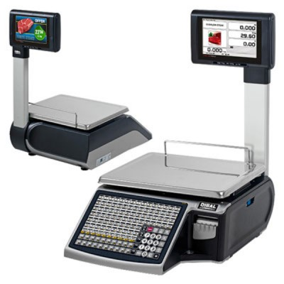 Весы с печатью чека Dibal S545T 7 Colour USB 6/15 KG