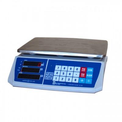 Весы для торговли с подключением и сенсорными кнопками на 6 кг 6ВП1-Т (с RS232)
